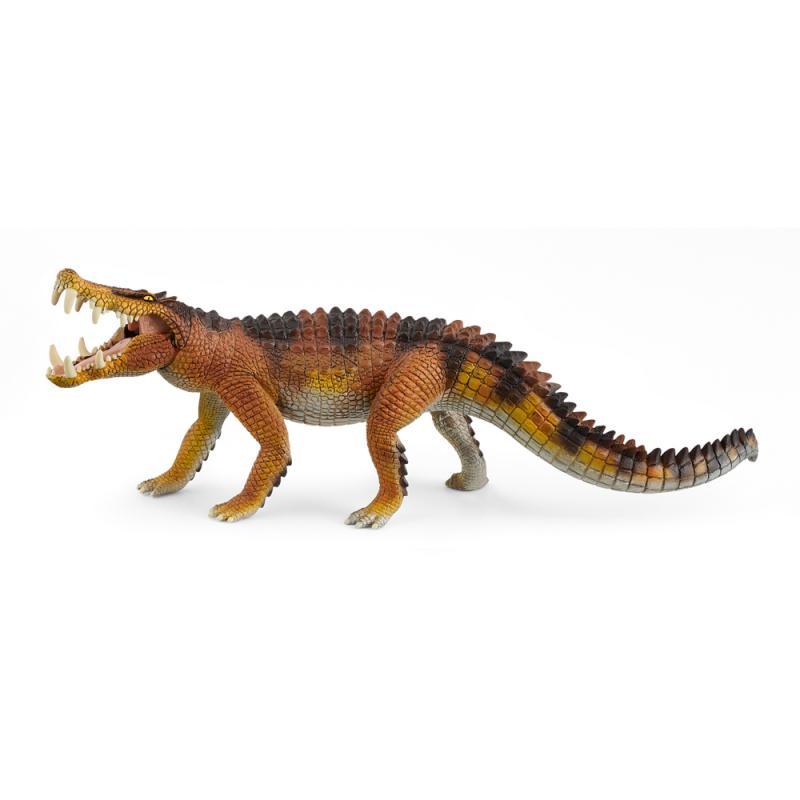 Prehistorické zvířátko - Kaprosuchus s pohyblivou čelistí
