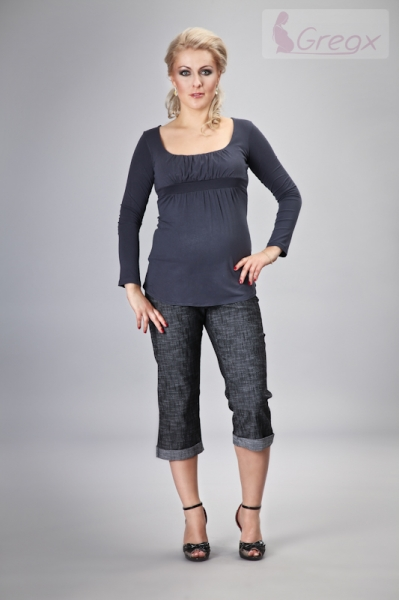 gregx-elegantni-tehotenske-3-4-kalhoty-denim-cerny-melir-xxxl-46