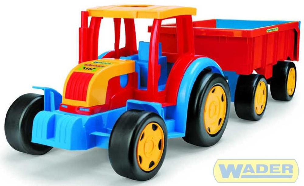 WADER GIGANT traktor s vlekem 66100 na písek