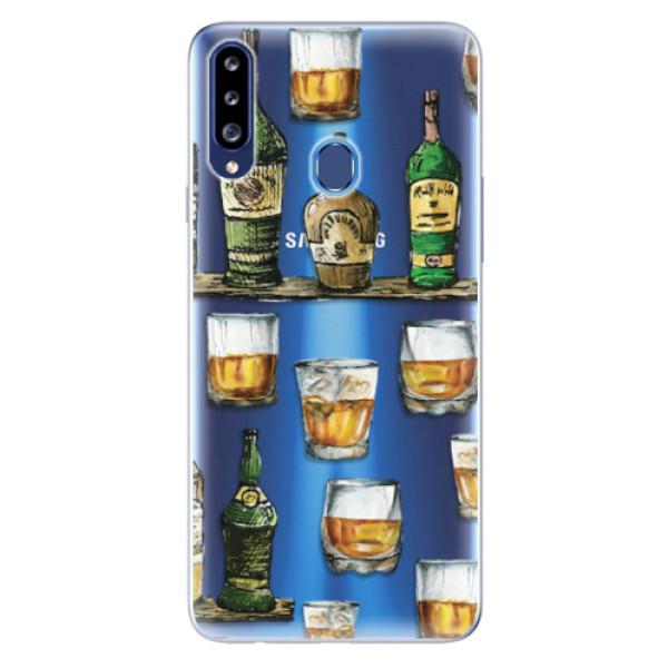 Odolné silikonové pouzdro iSaprio - Whisky pattern - Samsung Galaxy A20s