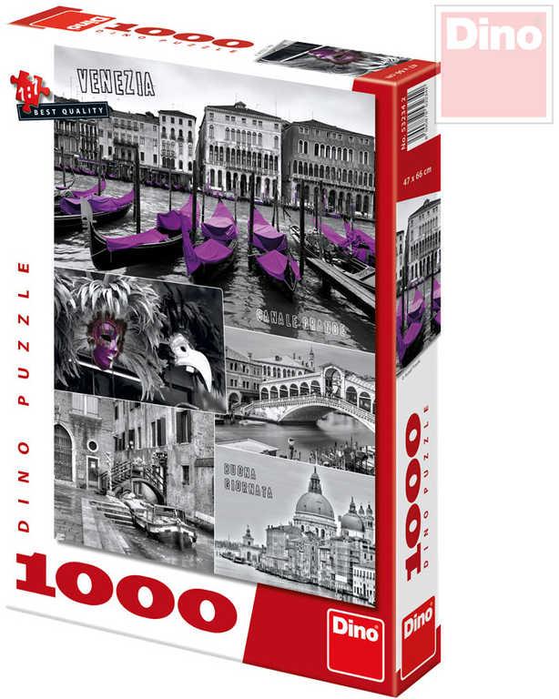DINO Puzzle Benátky koláž 47x66cm set 1000 dílků v krabici