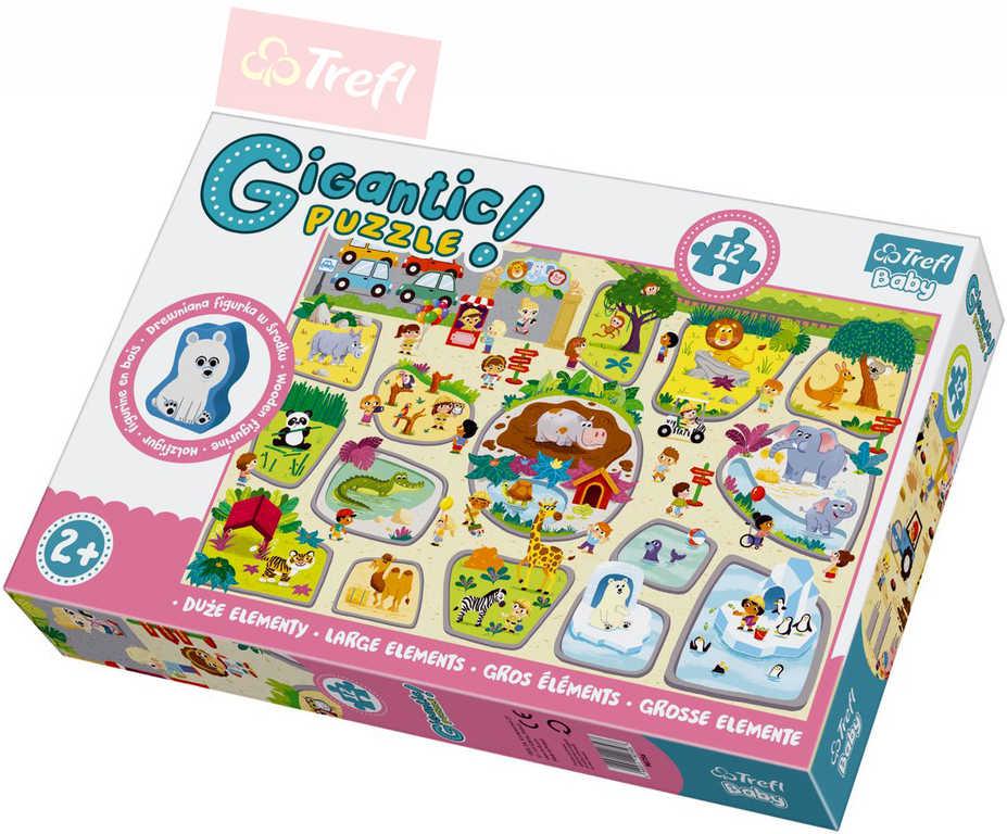 TREFL Puzzle baby v ZOO 12 dílků skládačka
