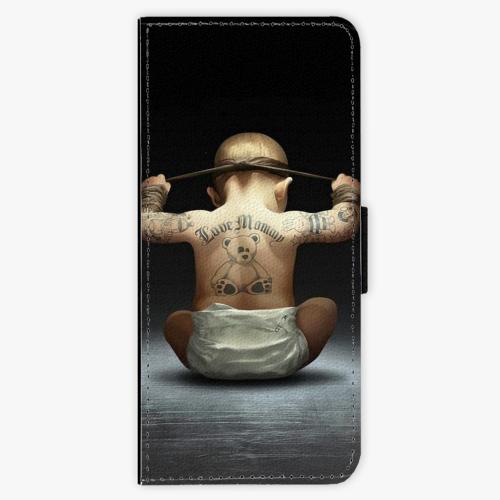 Flipové pouzdro iSaprio - Crazy Baby - Samsung Galaxy J3