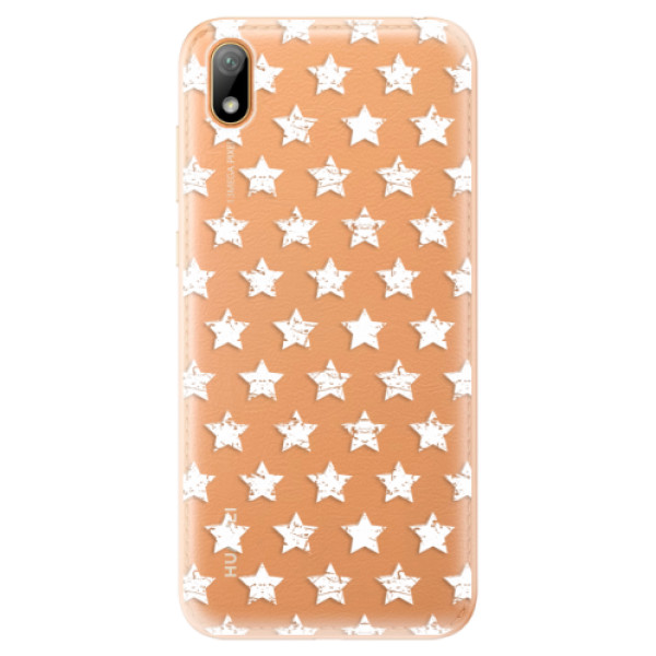 Odolné silikonové pouzdro iSaprio - Stars Pattern - white - Huawei Y5 2019