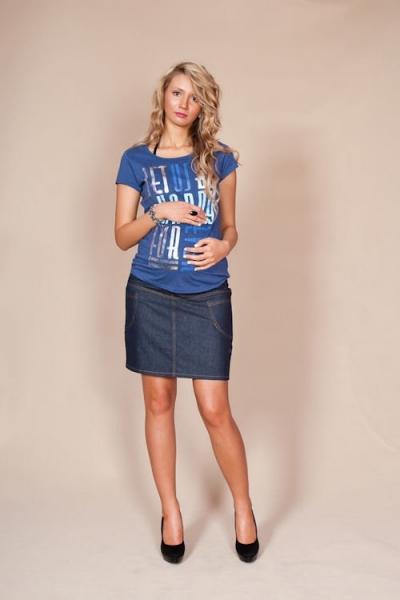 1b35ef98a45 Těhotenské sukně JEANS s kapsami - granátová.