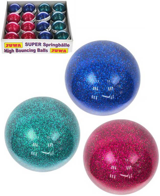 Hopík s glitry 5cm skákací třpytivý míček 3 barvy