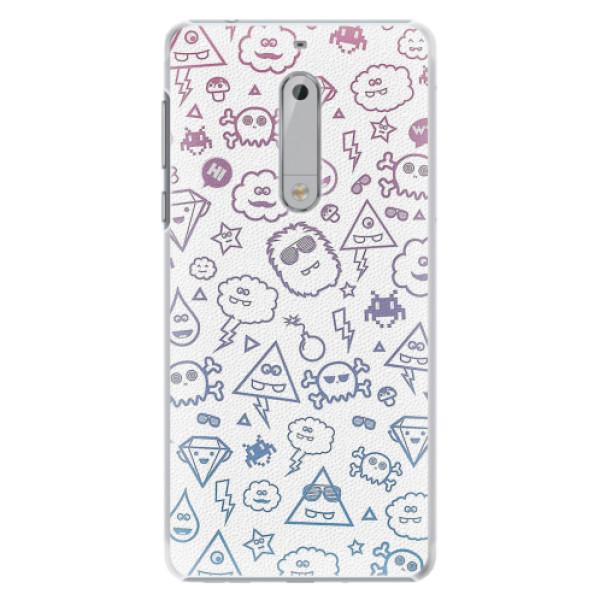 Plastové pouzdro iSaprio - Funny Clouds - Nokia 5