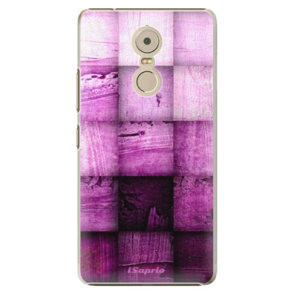 Plastové pouzdro iSaprio - Purple Squares - Lenovo K6 Note