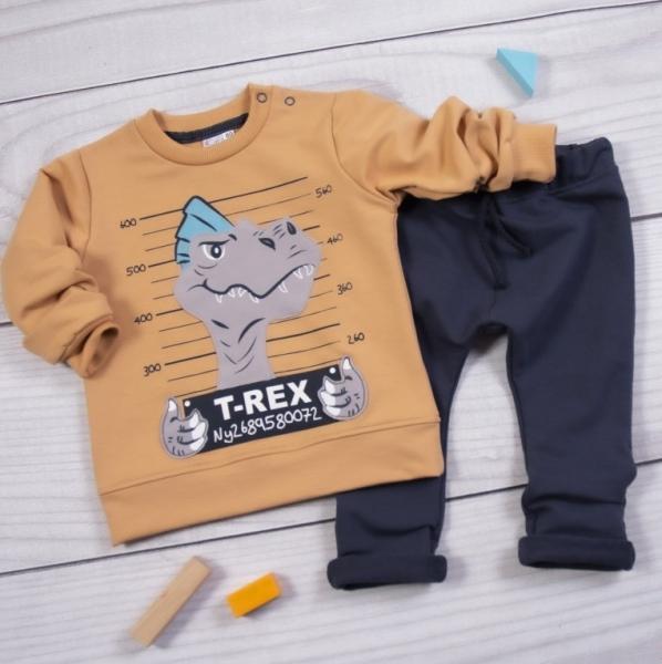 k-baby-teplakova-souprava-t-rex-hneda-granat-vel-104-104