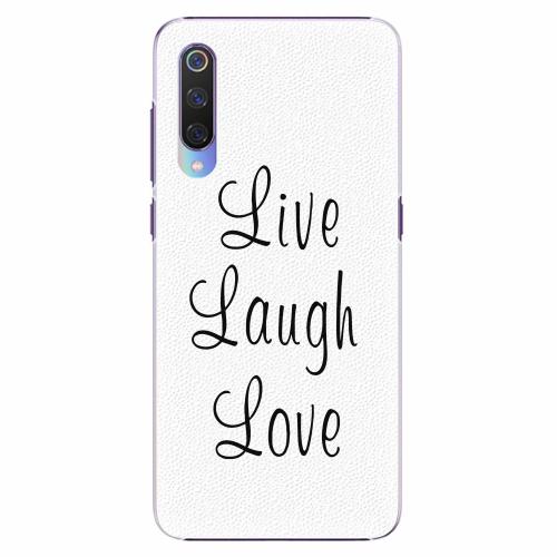Plastový kryt iSaprio - Live Laugh Love - Xiaomi Mi 9