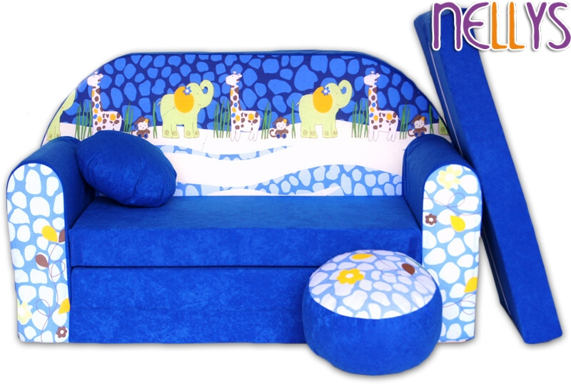nellys-rozkladaci-detska-pohovka-28r-safari-modre