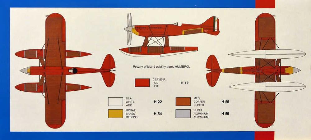 SMĚR Model letadlo Macchi M.C. 72 1:48 (stavebnice letadla)