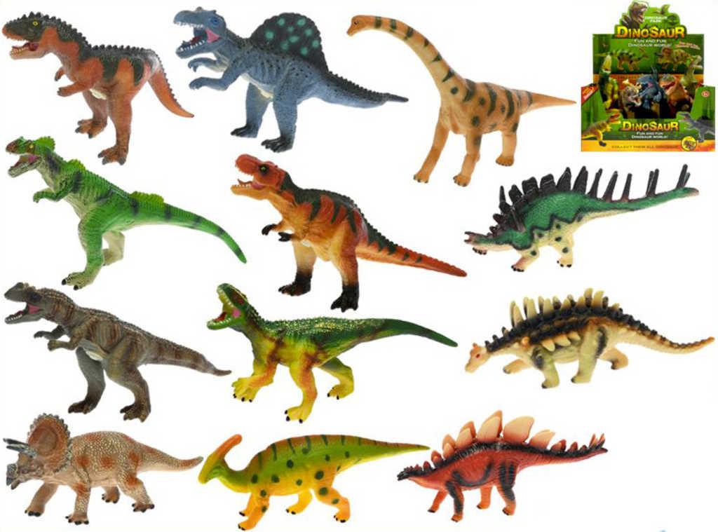 Dinosaurus 23-30cm zvířátko na baterie různé druhy Zvuk