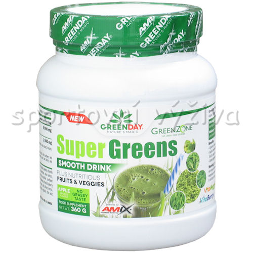 Super Greens Smooth Drink 360g-green-apple
