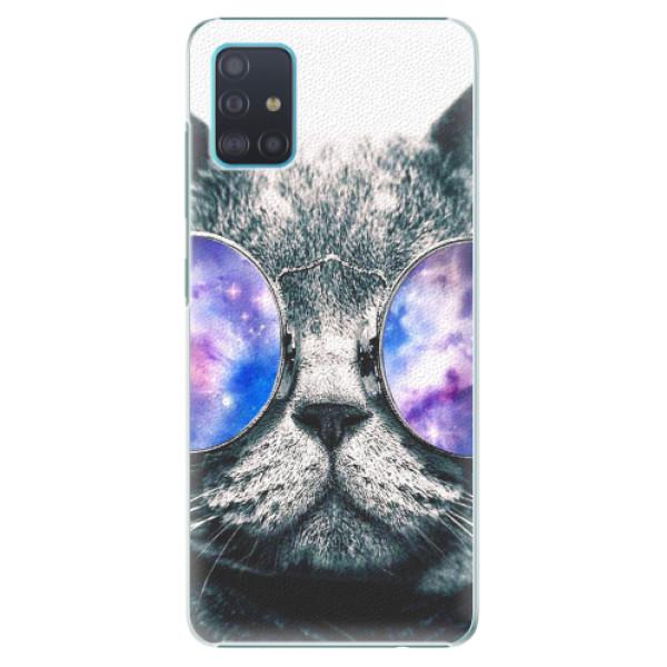 Plastové pouzdro iSaprio - Galaxy Cat - Samsung Galaxy A51