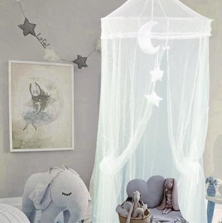Závěsné luxusní nebesa, moskytiéra Lafel, síť proti hmyzu - bílé