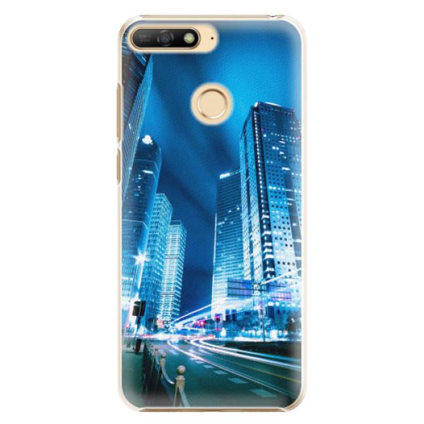 Plastové pouzdro iSaprio - Night City Blue - Huawei Y6 Prime 2018