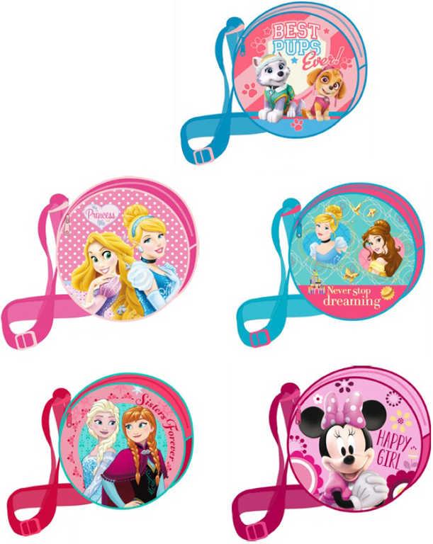 Taška dětská kulatá kabelka 17cm Disney motivy 5 druhů