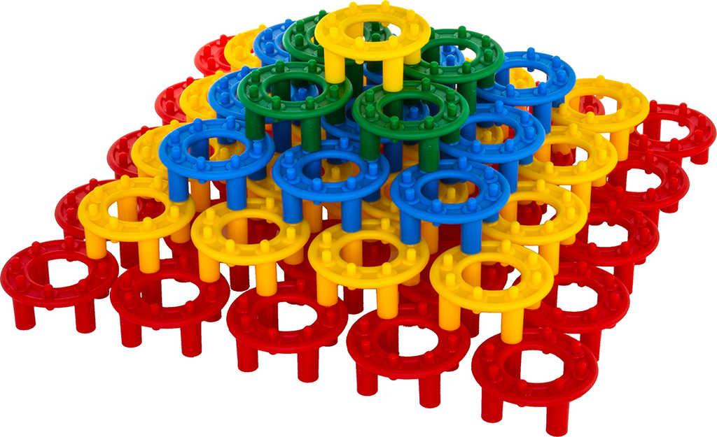 VISTA Baby stavebnice plastová DISCO set 32 kroužků pro miminko v krabici