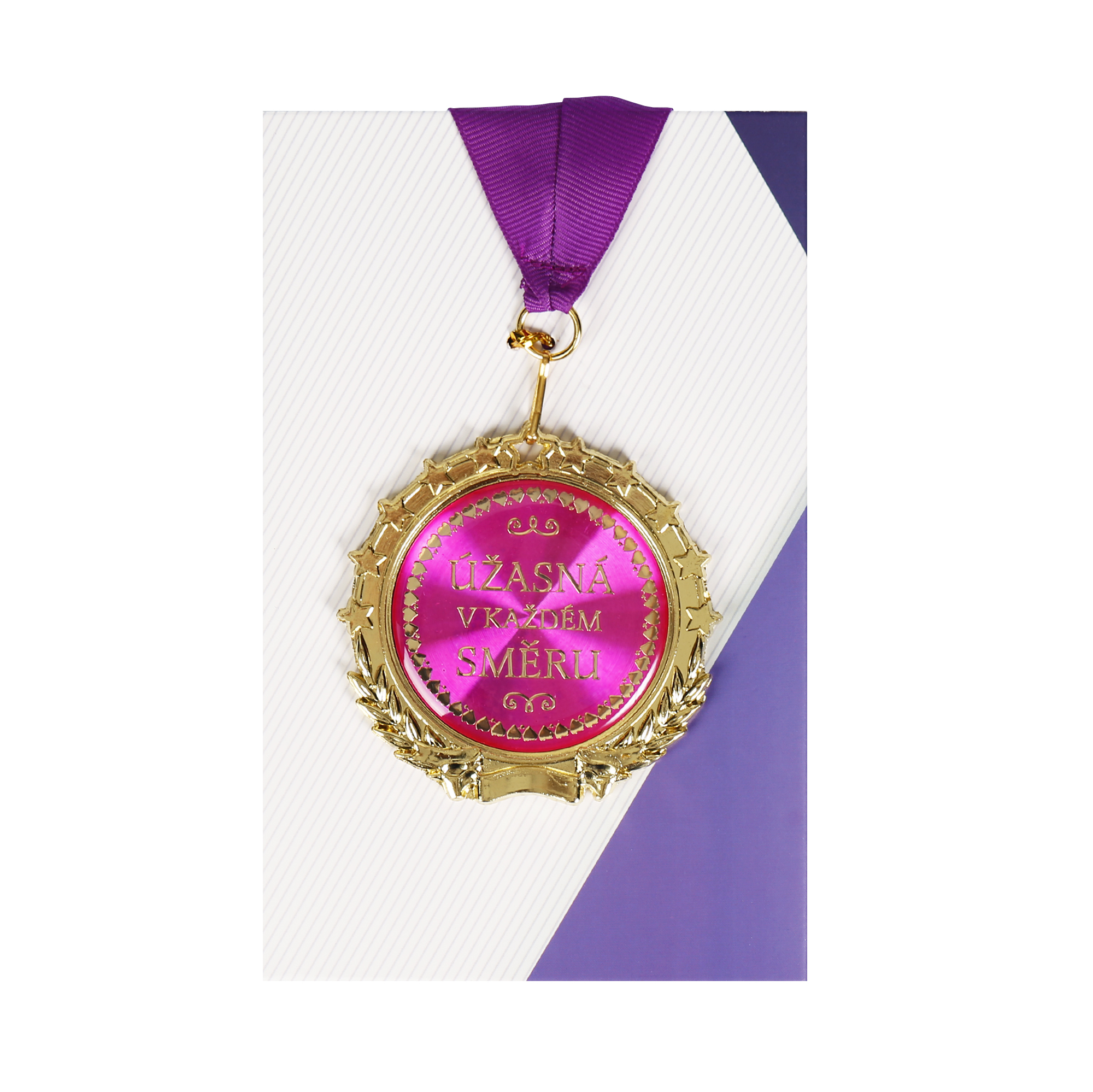 Přání s medailí - Úžasná