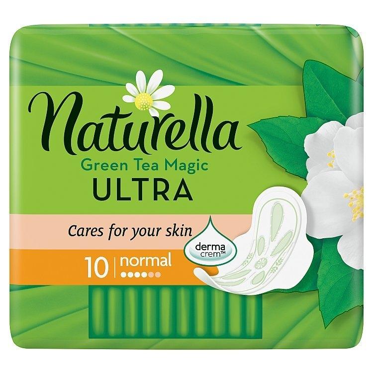 Green Tea Magic Ultra normal hygienické vložky s křidélky a jemnou vůní 10ks/bal.