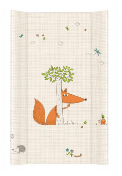 Ceba Baby Přebalovací podložka Liška - tvrdá, 50x80 cm