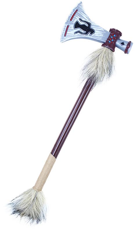 KARNEVAL Sekera tomahawk indiánský s kožešinou *KARNEVALOVÝ DOPLNĚK*