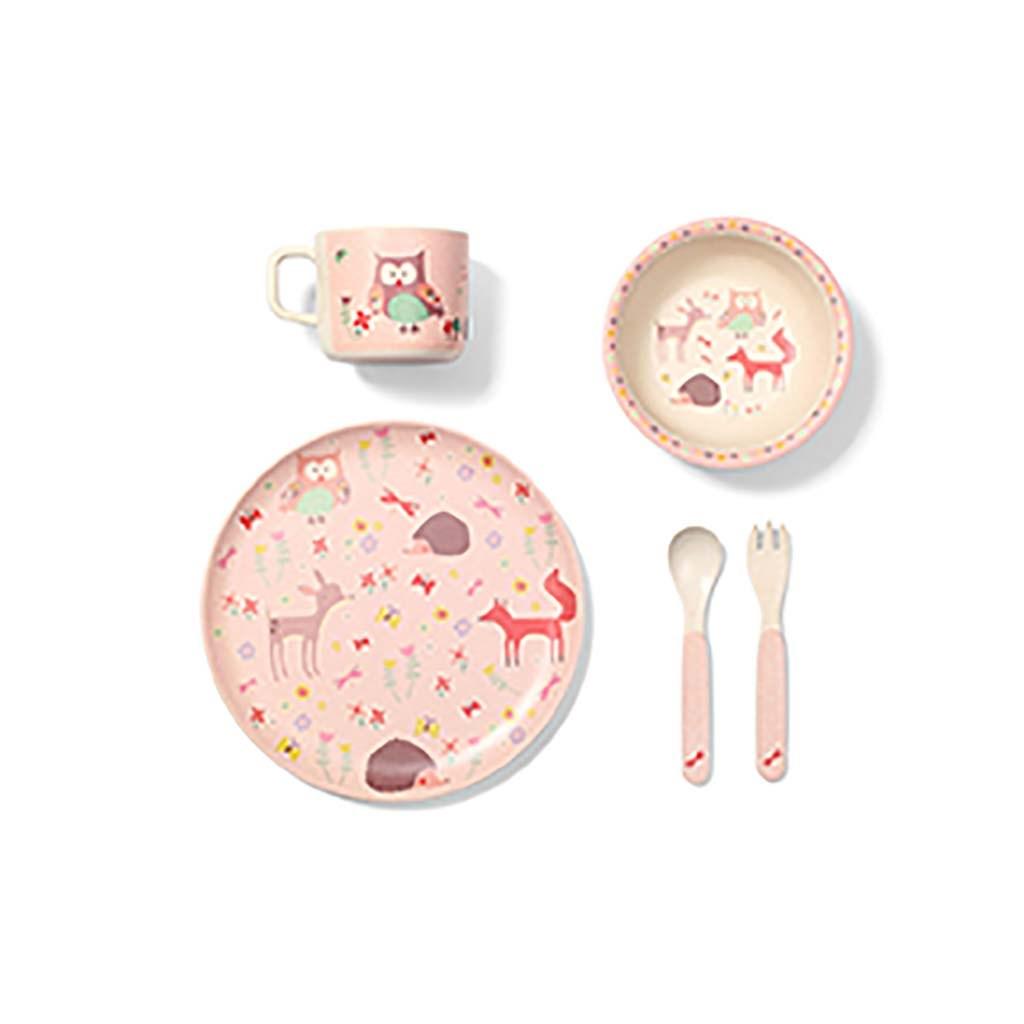 Bambusová sada nádobí pro děti Baby Ono Forest Pink - dle obrázku