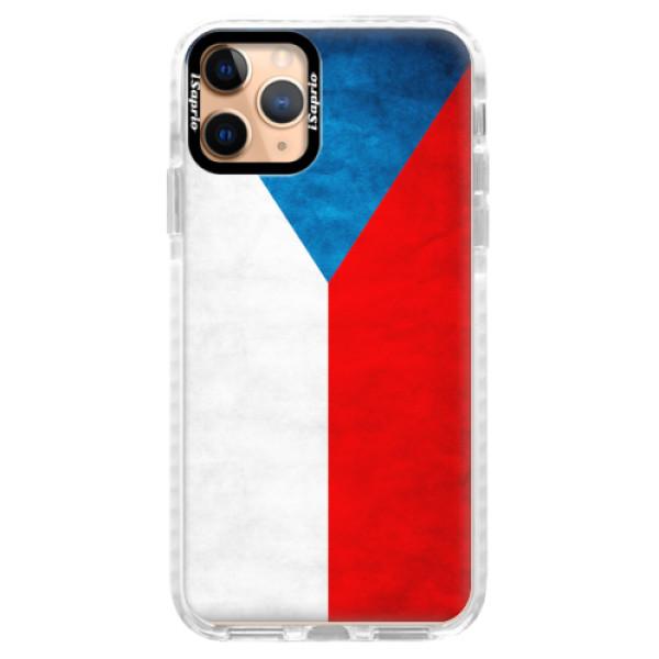 Silikonové pouzdro Bumper iSaprio - Czech Flag - iPhone 11 Pro