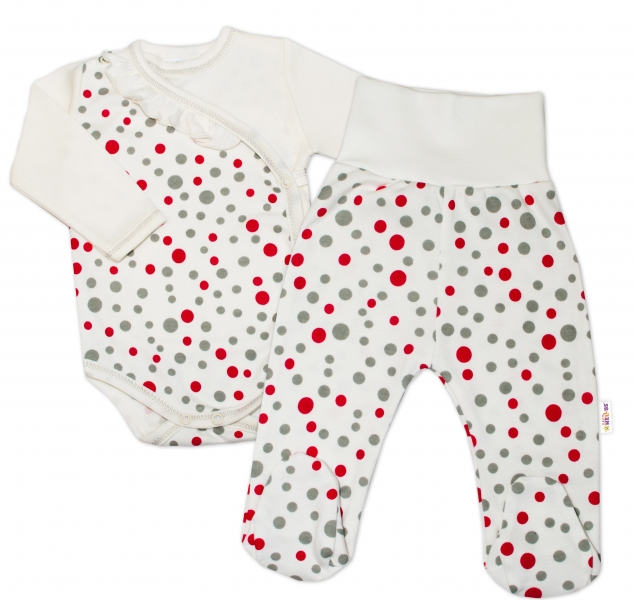 2-dílná kojenecká sada Baby Nellys - Puntíky