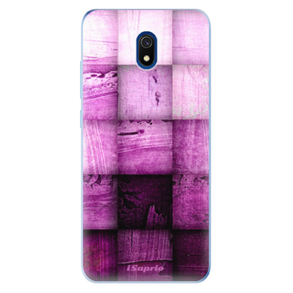 Odolné silikonové pouzdro iSaprio - Purple Squares - Xiaomi Redmi 8A