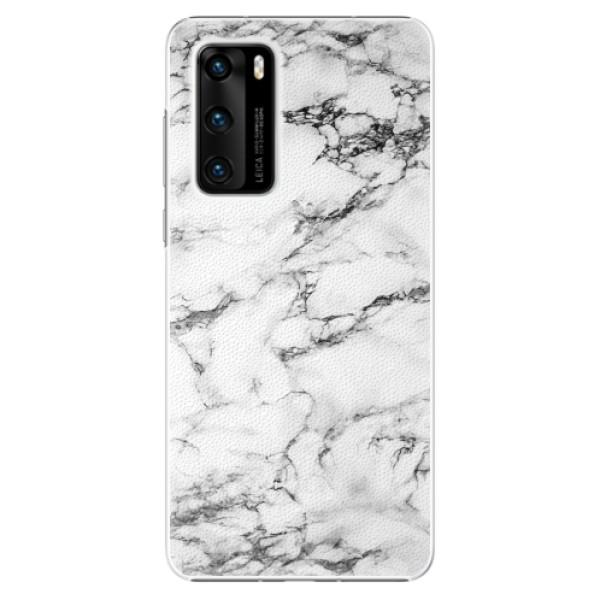 Plastové pouzdro iSaprio - White Marble 01 - Huawei P40