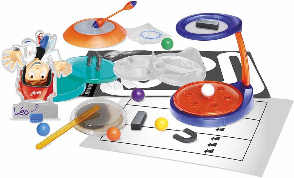 BUKI Magnetické pokusy experimentální set + 2 hry 2v1