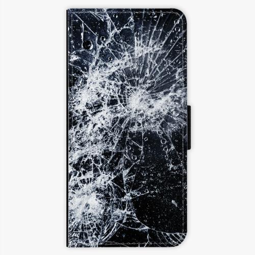 Flipové pouzdro iSaprio - Cracked - Sony Xperia XA