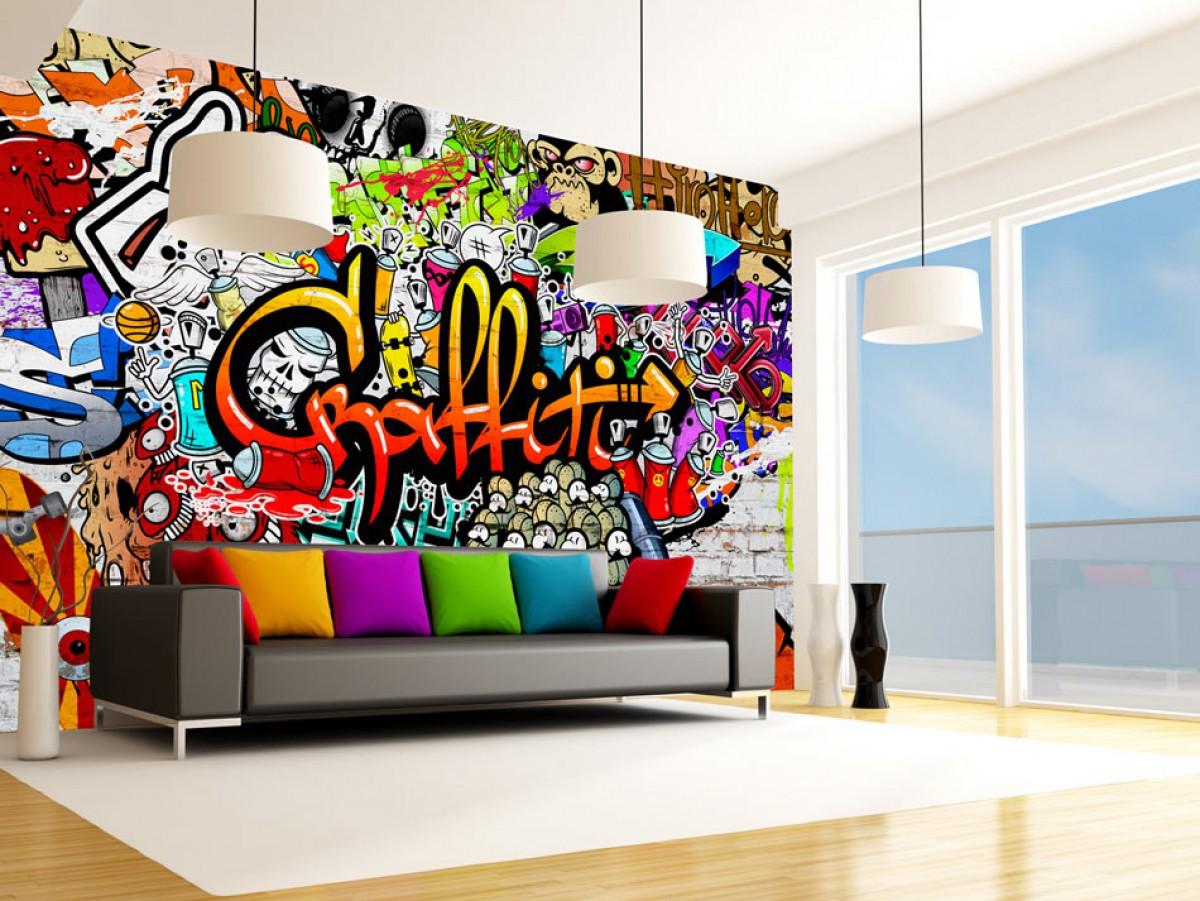 Tapeta barevné graffiti