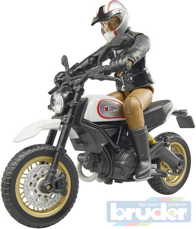 BRUDER 63051 Set motocykl Ducati Desert Racer s figurkou řidiče plast