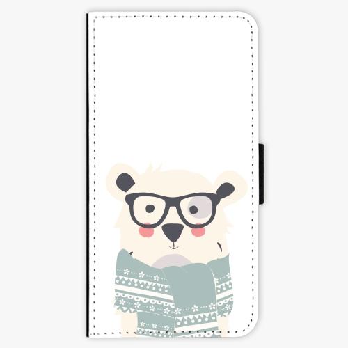 Flipové pouzdro iSaprio - Bear with Scarf - Samsung Galaxy J5 2017