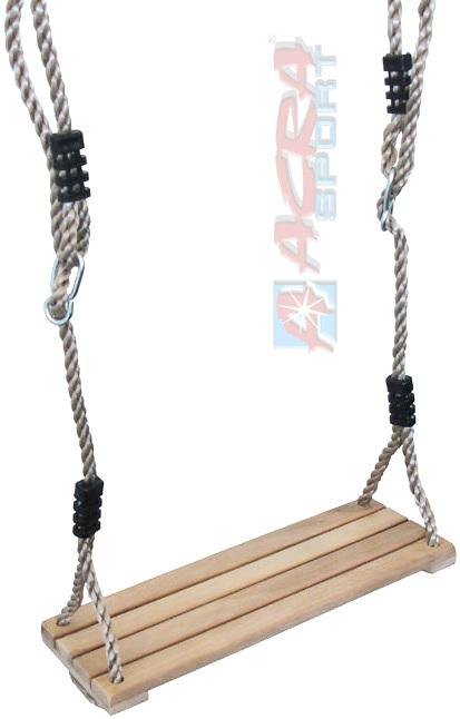 ACRA Sedátko dřevěné houpací závěsné dětská houpačka