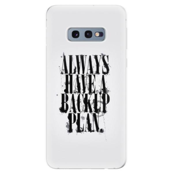 Odolné silikonové pouzdro iSaprio - Backup Plan - Samsung Galaxy S10e