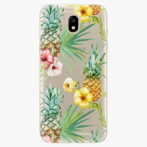 Silikonové pouzdro iSaprio - Pineapple Pattern 02 - Samsung Galaxy J5 2017