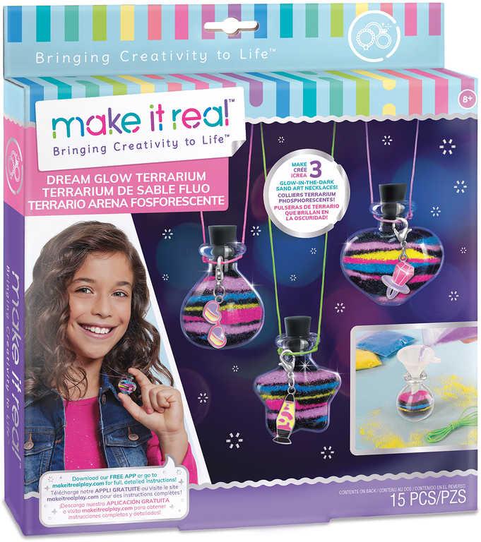 MAKE IT REAL Výroba náhrdelníků s lahvičkou na sny kreativní set