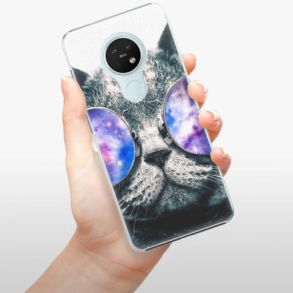 Plastové pouzdro iSaprio - Galaxy Cat - Nokia 7.2