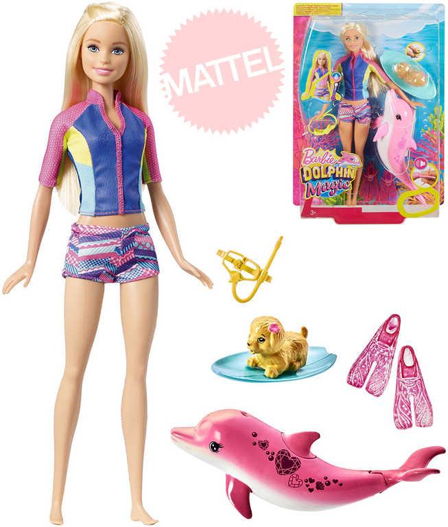 MATTEL BRB Panenka Barbie a magický delfín mění barvu set s doplňky Zvuk