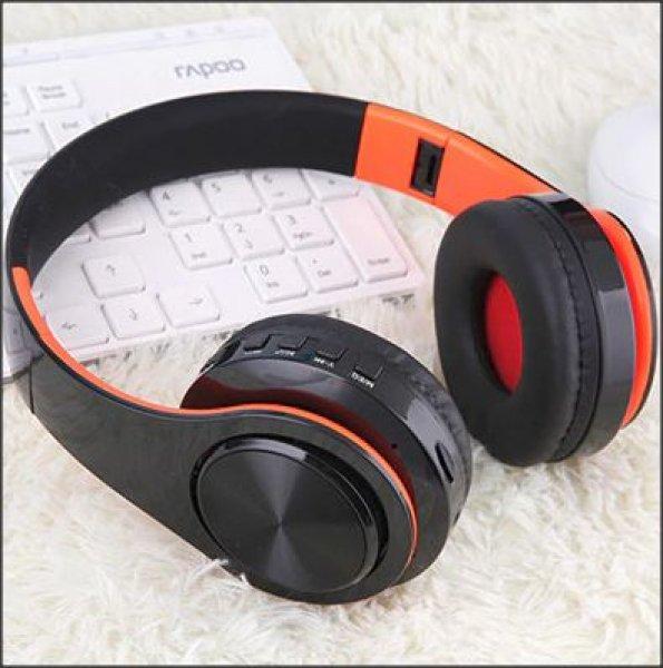 Bluetooth náhlavní sluchátka Tourya B7 - Černá-oranžová