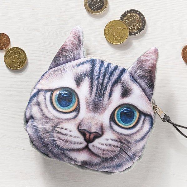 Kočičí peněženka na drobné - model - 1