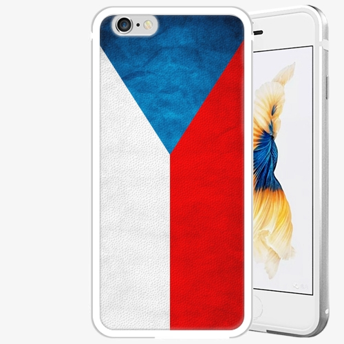 Plastový kryt iSaprio - Czech Flag - iPhone 6/6S - Silver