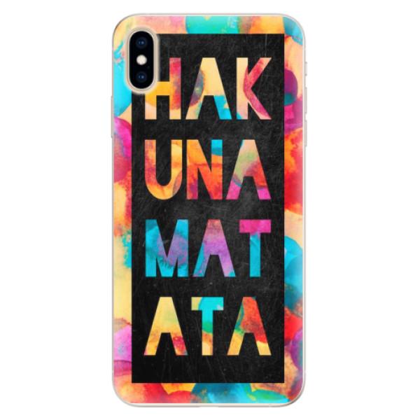 Silikonové pouzdro iSaprio - Hakuna Matata 01 - iPhone XS Max