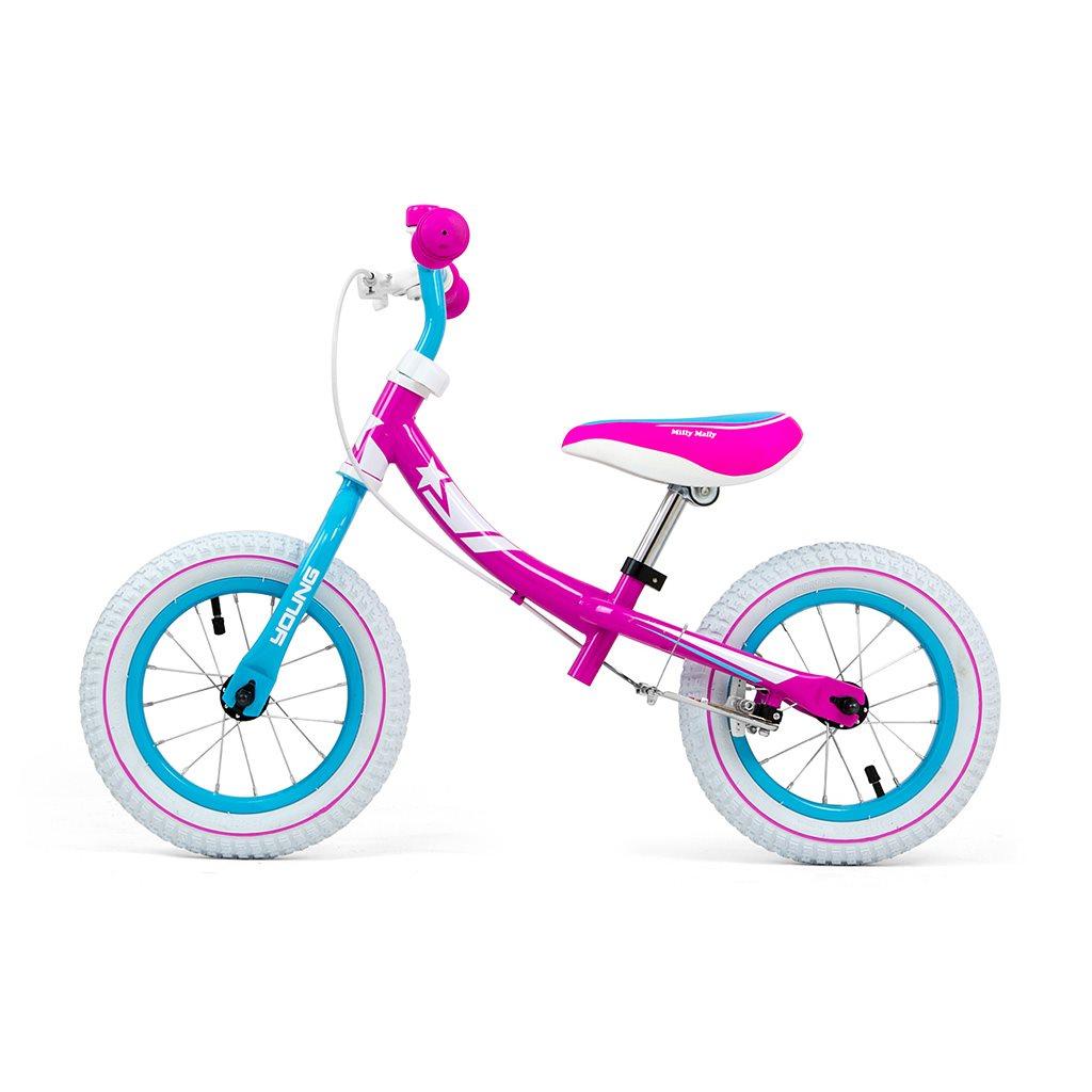 Dětské odrážedlo kolo Milly Mally Young - candy - multicolor