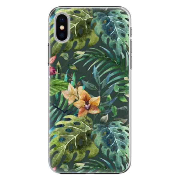 Plastové pouzdro iSaprio - Tropical Green 02 - iPhone X