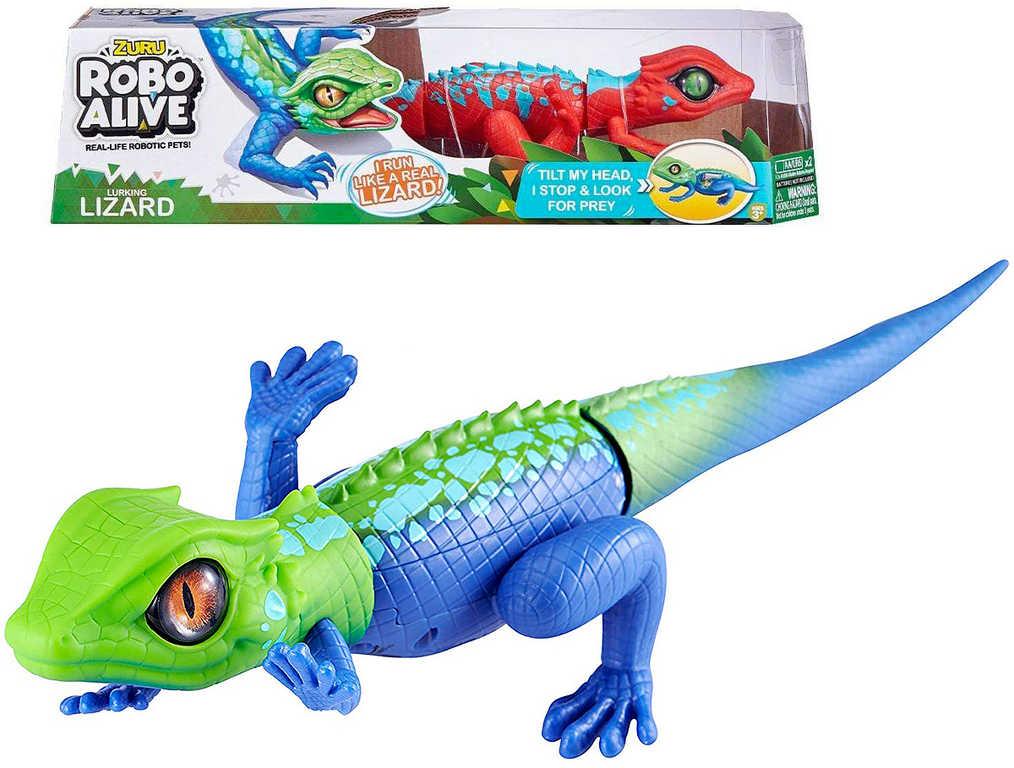 Zuru Robo Alive ještěrka zvířátko na baterie reaguje na dotek realistický vzhled 2 barvy p